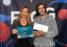 La directrice de Réseau Centre, Brigitte Messier, accompagnée du lauréat du prix Réseau Centre 2019, Guillaume Bordel.