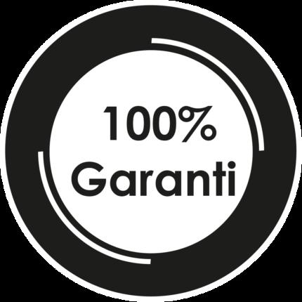 100%Garanti (habillage devant le texte)